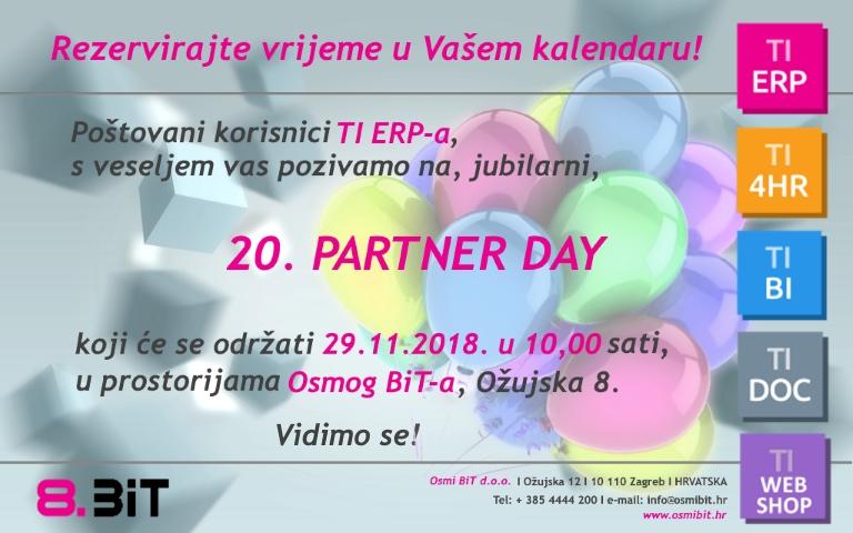 Prikaz poziva na 20. Partner Day korisnika TI ERP rješenja