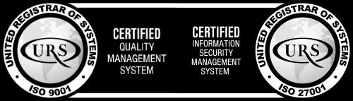 Slika certifikacije za norme ISO9001 i ISO27001